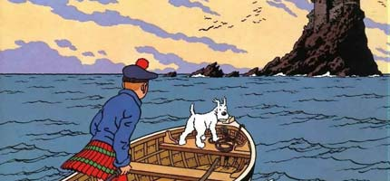 Tintin and the Black Island