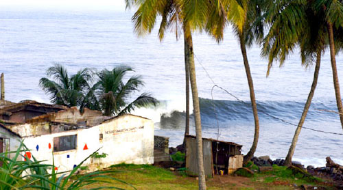 Surfing in Liberia, Africa